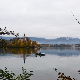 Fishermen in Bled, Slovenia