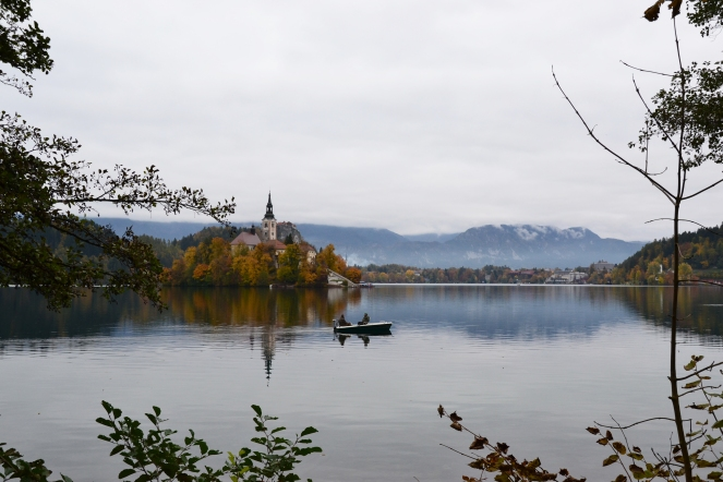Fishermen in Bled, Slovenia