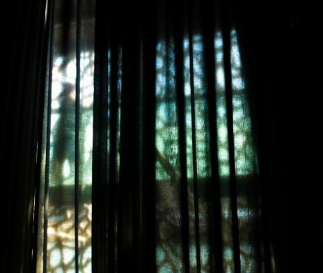 Ghost behind a curtain