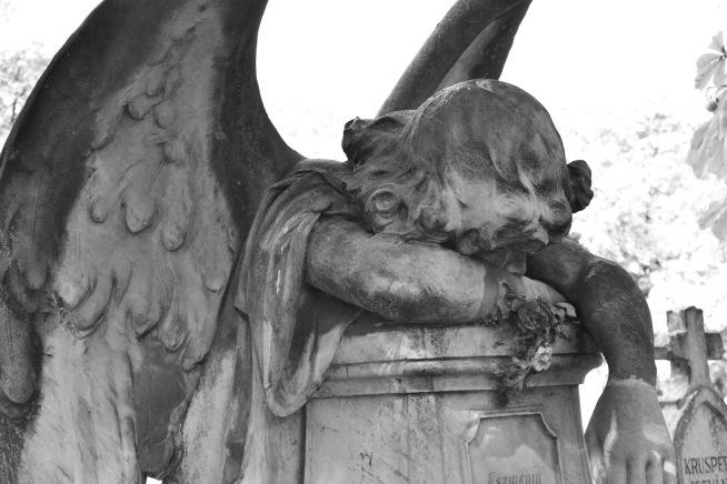 Weeping angel, Budapest, Hungary
