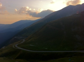 Sunset on the fagarasan, Romania